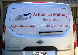 Arkansas Mailing Services vehicle graphics