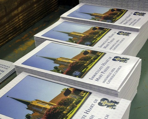 Printed brochures for Immaculate Heart of Mary