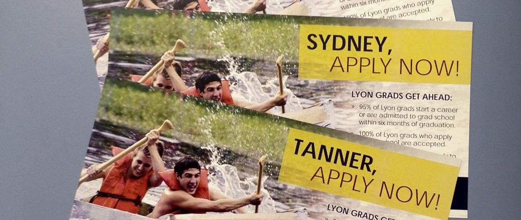 Lyon College marketing postcards