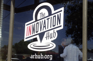 Innovation Hub window graphics