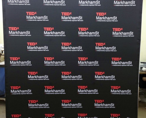 TedX step and repeat banner