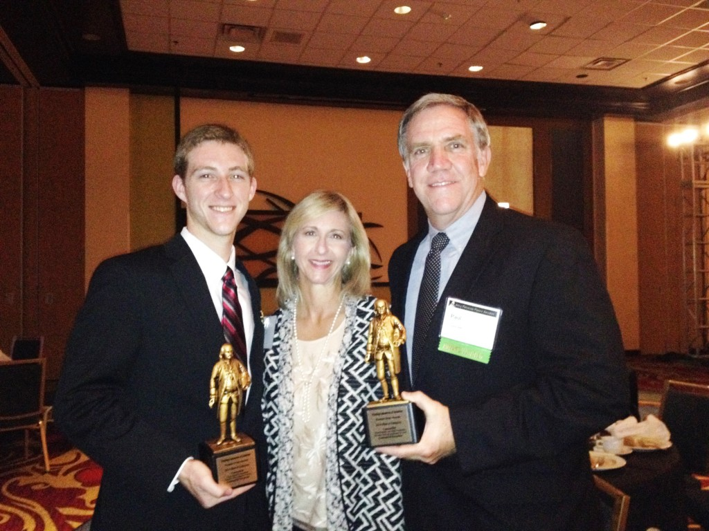 Michael, Lisa & Paul Strack after receiving the 2 Bennys in Chicago.