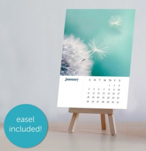 calendar photo with easel and dotwhack