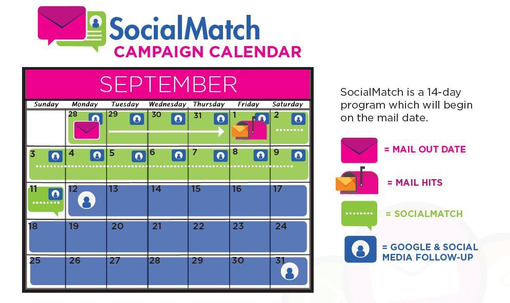 social match campaign calendar